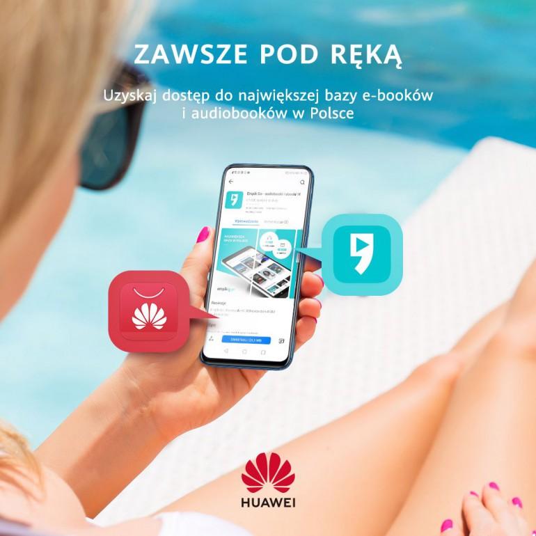 Właściciele smartfonów i tabletów Huawei zyskają w wakacje bezpłatny dostęp do ebooków, audiobooków oraz filmów