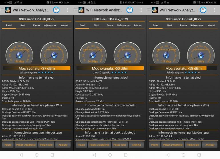 Sieć 2,4 GHz 1 m, 5 m, 10 m