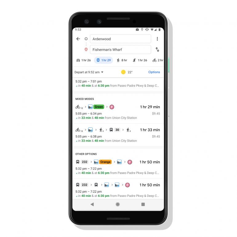 Mapy Google wprowadzają funkcję tworzenia tras mieszanych