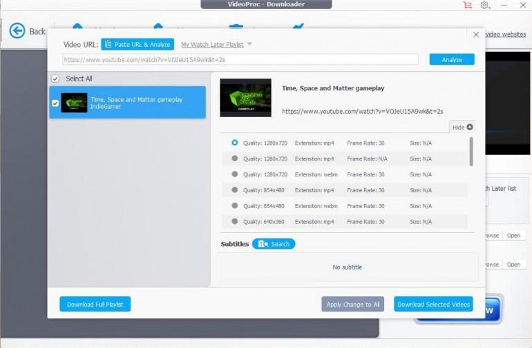 VideoProc - recenzja programu do tworzenia, edycji i pobierania multimediów