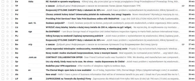 8 typów e-maili, które ignorujemy