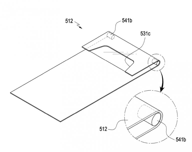 Samsung patentuje nowy sposób na elastyczny, składany wyświetlacz