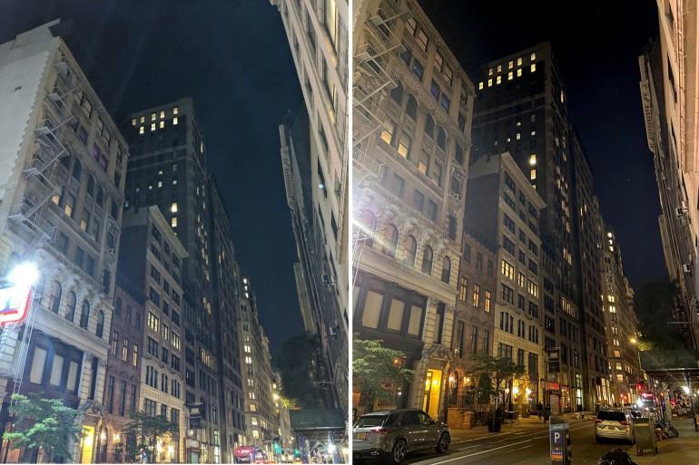Google Pixel 4 z lewej; iPhone 11 z prawej Źródło: macworld.com