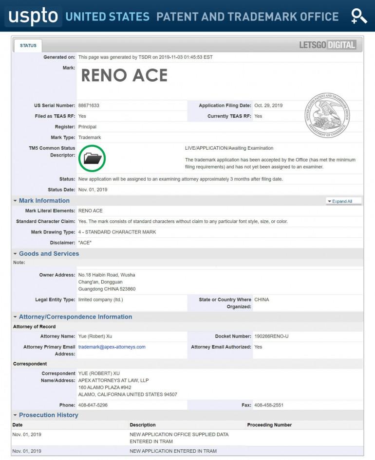 Oppo zamierza sprzedawać Reno Ace w Stanach Zjednocznych