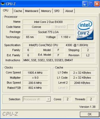 Core 2 Duo E4300 - absolutny mistrz podkręcania