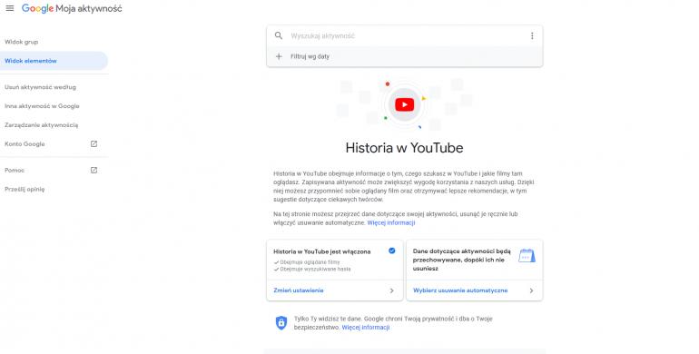 Jak skasować historię odwiedzin i wyszukiwania na YouTube?