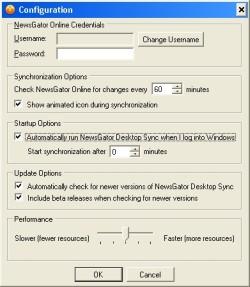 NewsGator Desktop Sync