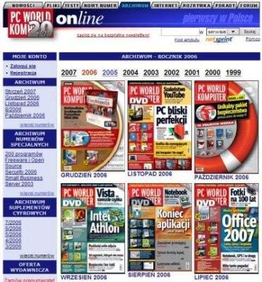 Archiwum magazynu PC World Komputer