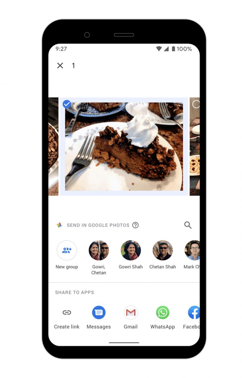 Zdjęcia Google z wbudowanym komunikatorem