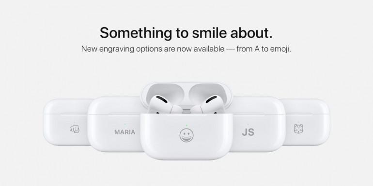 Apple oferuje bezpłatne grawerowanie Emoji na słuchawkach AirPods