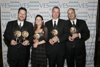 """John Knoll, Jill Brooks, Hal Hickel, Charlie Gibson - zwycięzcy w kategorii """"Najlepsze Efekty Wizualne w filmie opartym w znacznej mierze na efektach specjalnych"""""""
