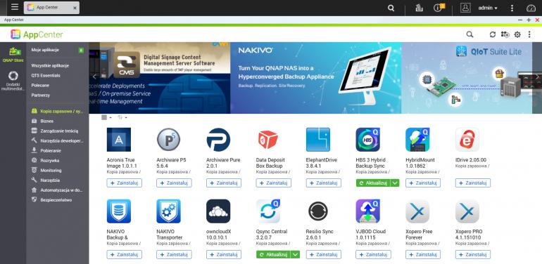 Dodatkowe funkcje serwera QNAP NAS dostarczane są w formie gotowych do użycia aplikacji.