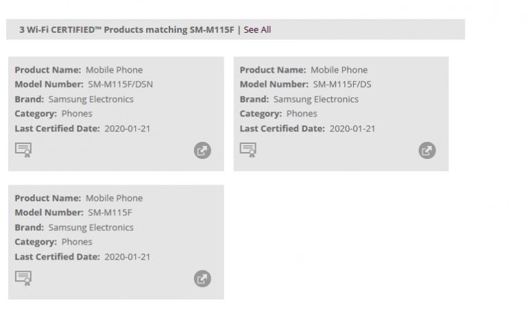 Samsung Galaxy M11, M31 i A11 z certyfikatem Wi-fi Alliance