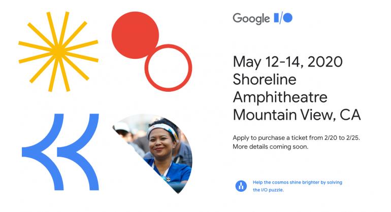 Google I/O 2020 - sprzedaż biletów w dniach 20-25 lutego