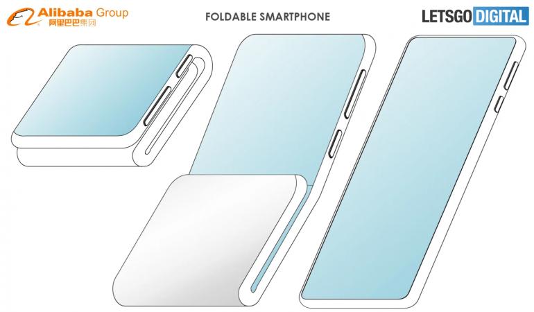 Alibaba patentuje podwójnie składanego smartfona