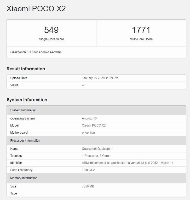 POCO X2 - Snapdragon 730G i do 8GB RAM na pokładzie