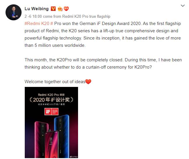 Redmi K20 Pro wycofane ze sprzedaży - Redmi K30 Pro nadchodzi