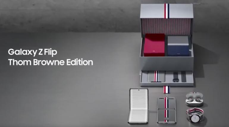 Samsung Galaxy Z Flip - limitowana wersja Thom Browne na oficjalnej reklamie
