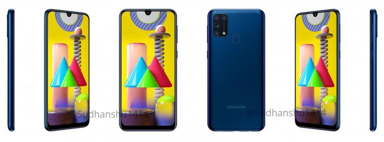 Samsung Galaxy M31 - do sieci trafiły oficjalne rendery i specyfikacja