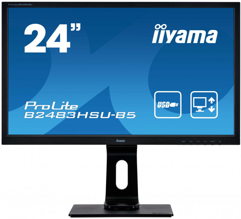 ProLite B2483HSU-B5/W5 - nowy monitor iiyama do biura i domu