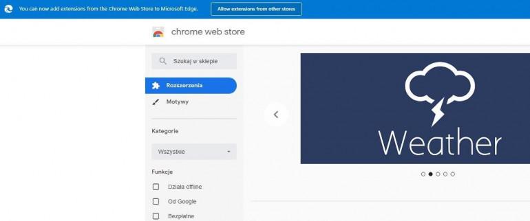 Google usuwa baner, odradzający używanie rozszerzeń Chrome na Edge