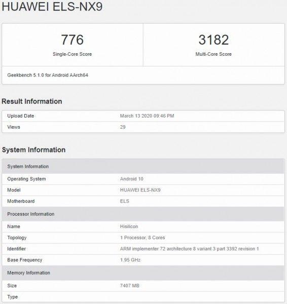 Huawei P40 Pro 5G pojawia się w wynikach Geekbench