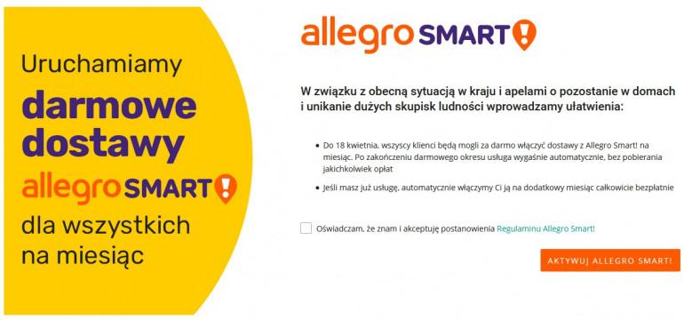AllegroSmart! – darmowe dostawy dla wszystkich