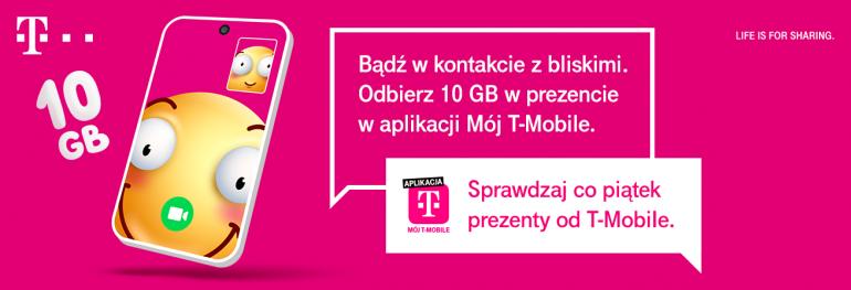 Kliencie T-Mobile odbierz 10 GB internetu w prezencie!