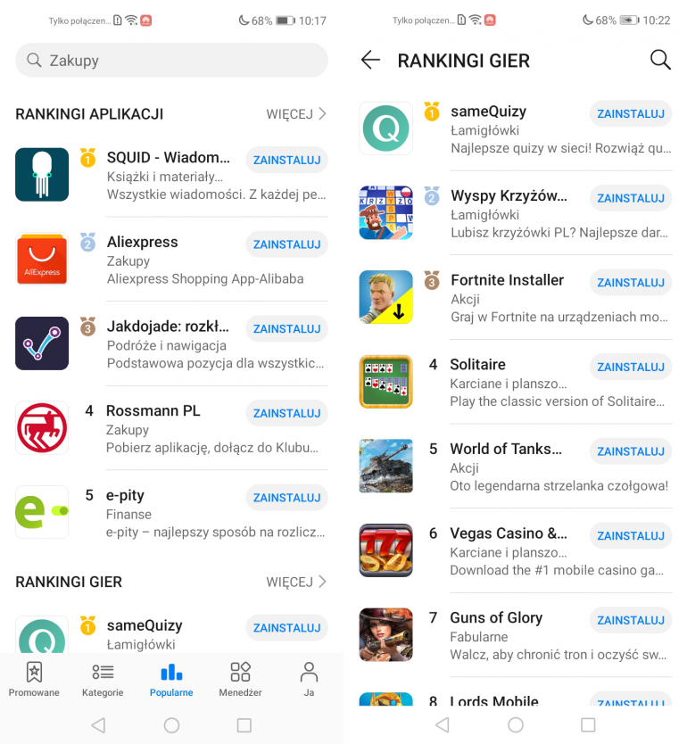Najlepsze aplikacje i gry w AppGallery - sprawdź, co zainstalować na Huawei P40 Pro, P40, P40 Lite i P40 Lite E