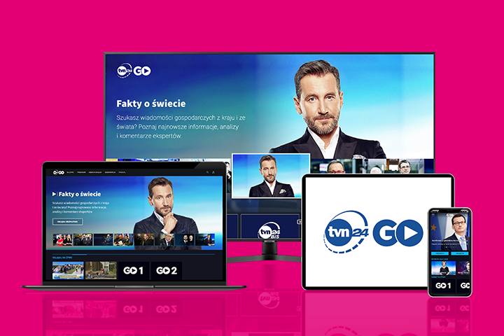 Oglądaj TVN 24 GO za darmo w aplikacji Mój T-Mobile