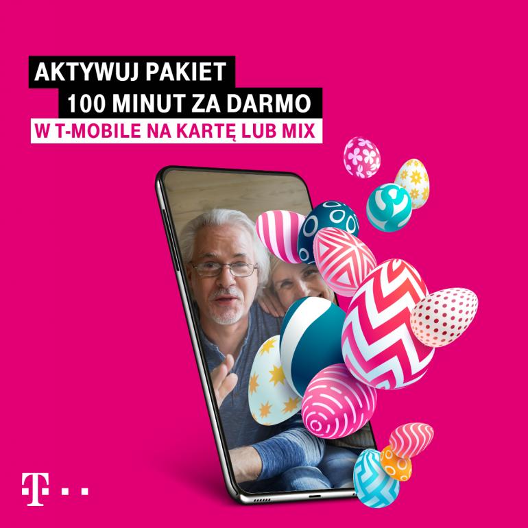 Wielkanoc z T-Mobile – odbierz 100 darmowych minut w prezencie