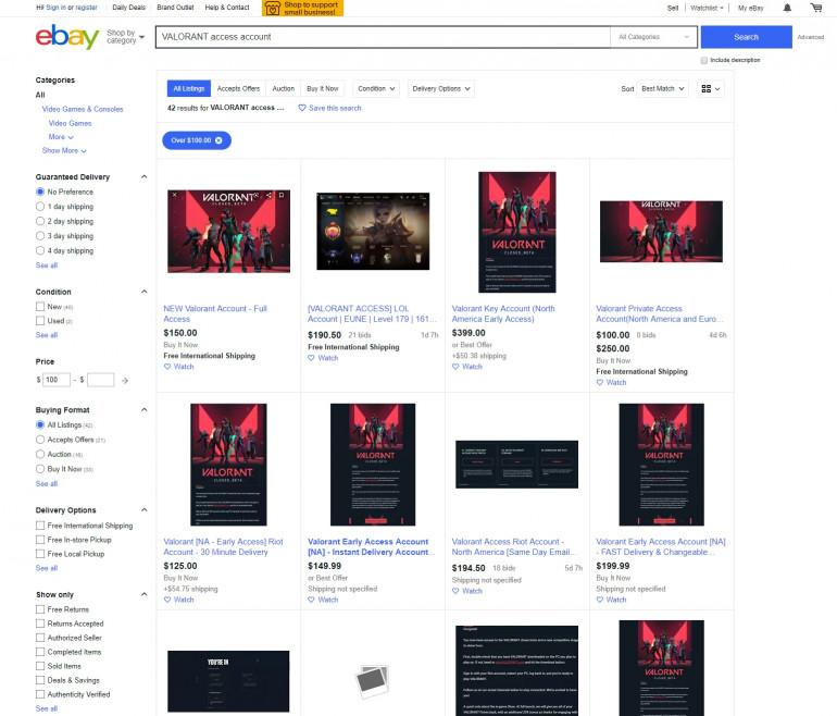 Riot Games banuje konta w VALORANT, które pojawiły się w sprzedaży
