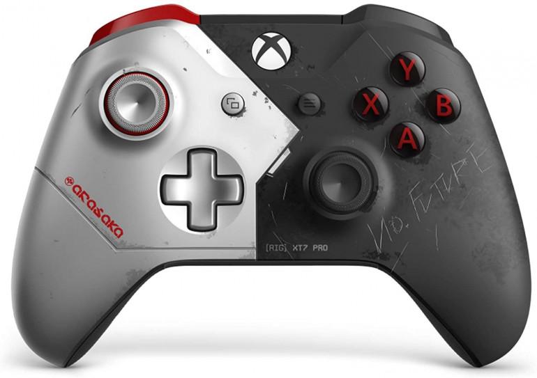 Xbox One X w stylu Cyberpunk 2077