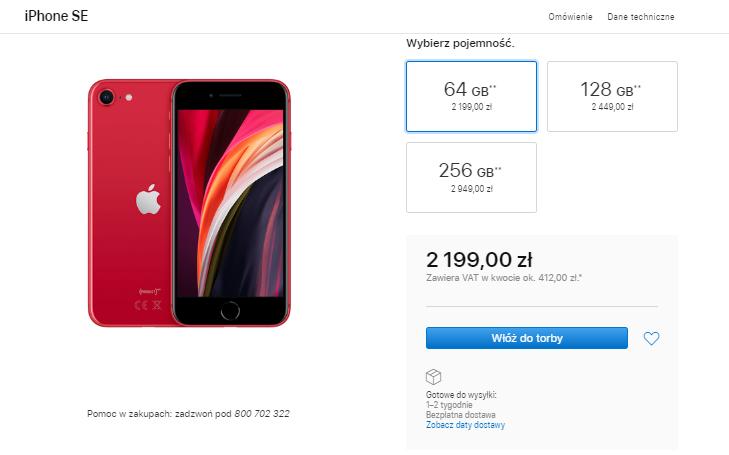 iPhone SE wyprzedany - jaka wersja sprzedaje się najlepiej?