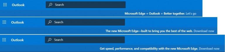 Microsoft zaczyna wyświetlać reklamy Edge w Outlooku
