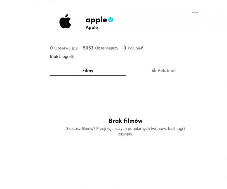 Apple tworzy konto na TikTok