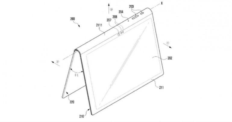 Samsung opatentował tablet z wbudowaną podstawką