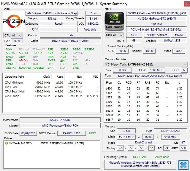 ASUS TUF GAMING A17 FA706 - Gamingowa maszyna z AMD Ryzen 7 4800H