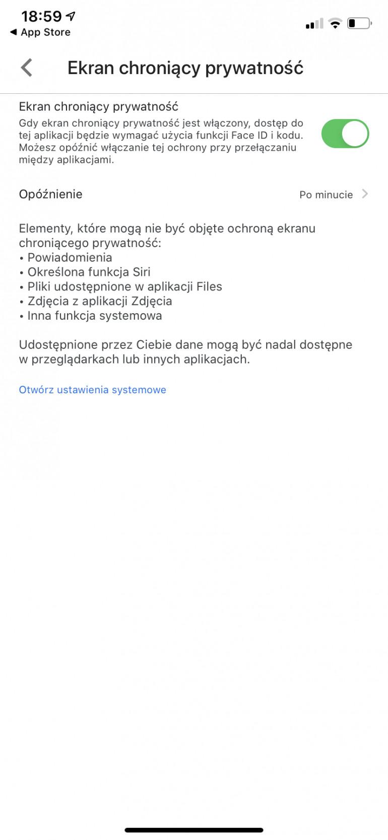 Dysk Google na iOS z obsługą Touch ID i Face ID