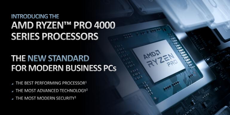 AMD próbuje sił w biznesie - debiutują mobilne procesory AMD Ryzen Pro 4000