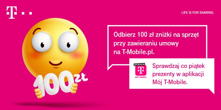 100 zł na zakupy w T-Mobile - odbierz voucher w aplikacji