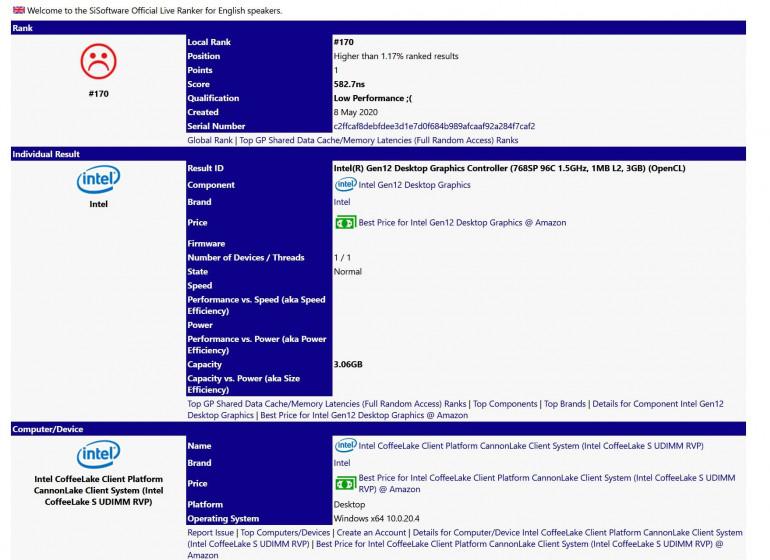 Intel DG1 - pierwsza komercyjna karta graficzna Intela zapowiada się nieźle