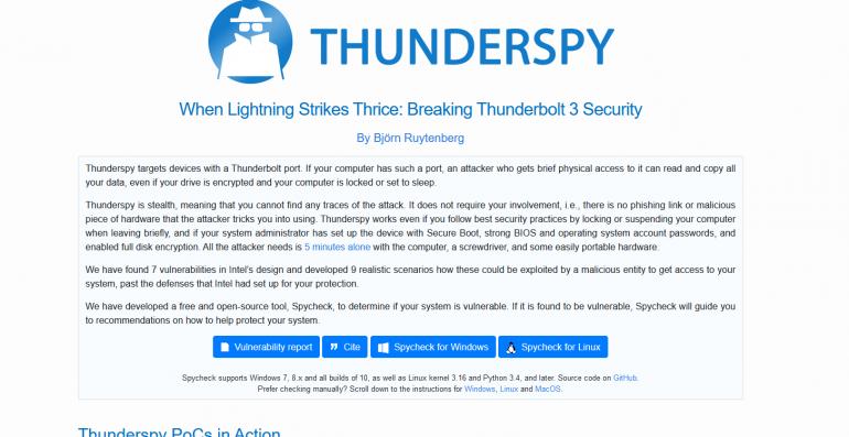 Odkryto nową podatność w Thunderbolt - sprawdź, czy Twój sprzęt jest zagrożony