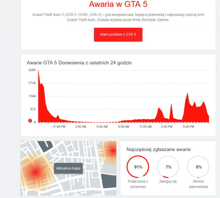 GTA 5 - spokojnie, to tylko awaria serwerów. Znowu.