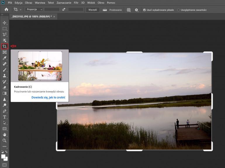Jak wyprostować zdjęcie w Photoshopie?