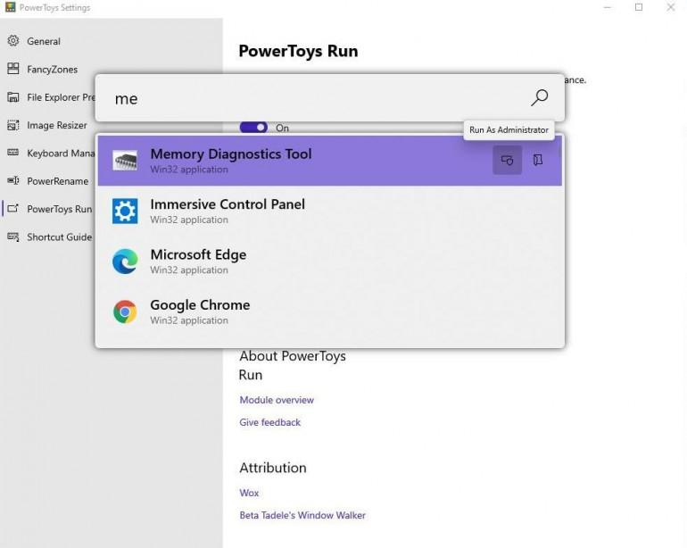Windows 10 PowerToys - wyszukiwarka inspirowana macOS i własne skróty klawiaturowe