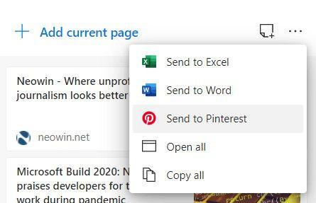 Microsoft Edge otrzymuje integrację z Pinterest