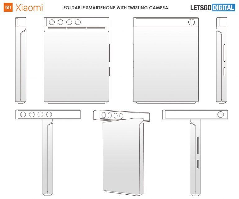 Xiaomi patentuje składanego smartfona z obracanym panelem aparatów