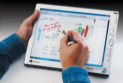 Typowy tablet PC firmy Gateway w akcji