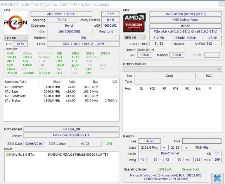 AMD pokonało Intel'a - Test Acer'a Swift 3 z Ryzen 7 4700U